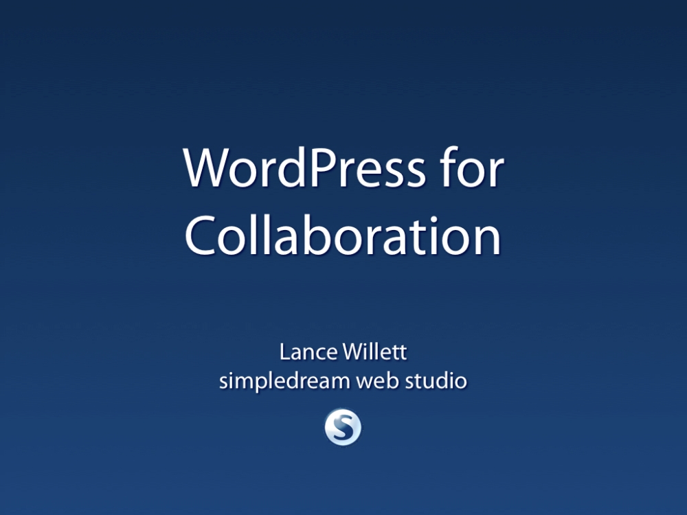 WordPress for Collaboration (1/4)