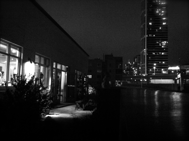 Cityscape as seen from Matt's apartment.