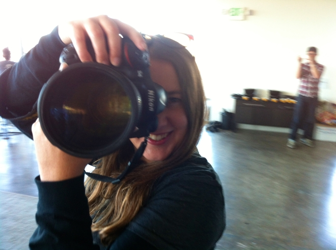 """Sheri Bigelow candid """"I shot the photographer"""" snapshot. She rocked it as the official photographer for WCSF 2012."""