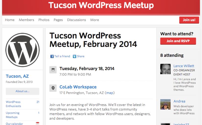 Tucson WordPress Meetup, February2014