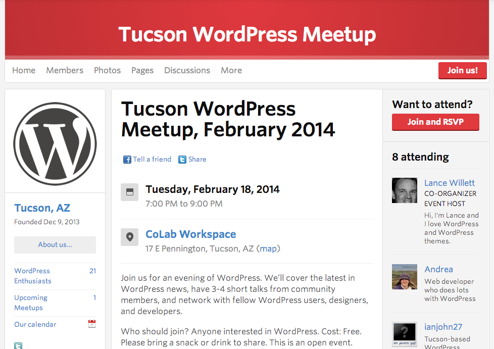 Tucson WordPress Meetup, February 2014