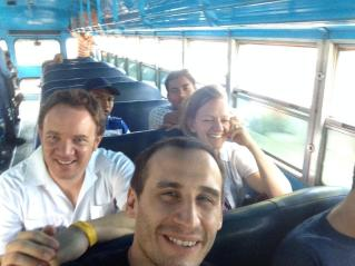 On the bus to León.