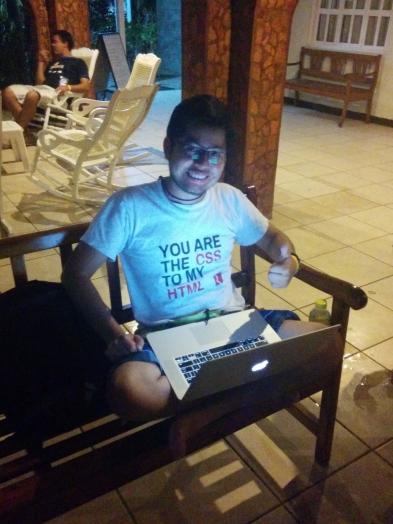 Jepser Bernardino with a cool t-shirt.