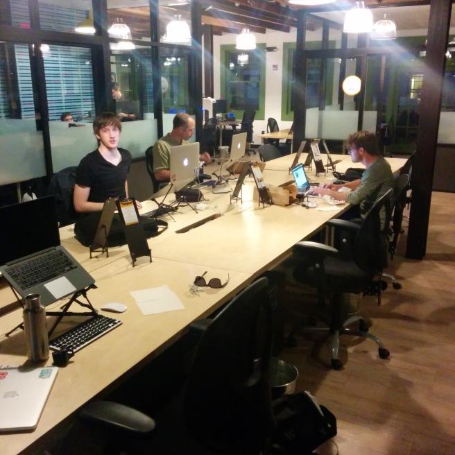 WordPress nerds in a row.
