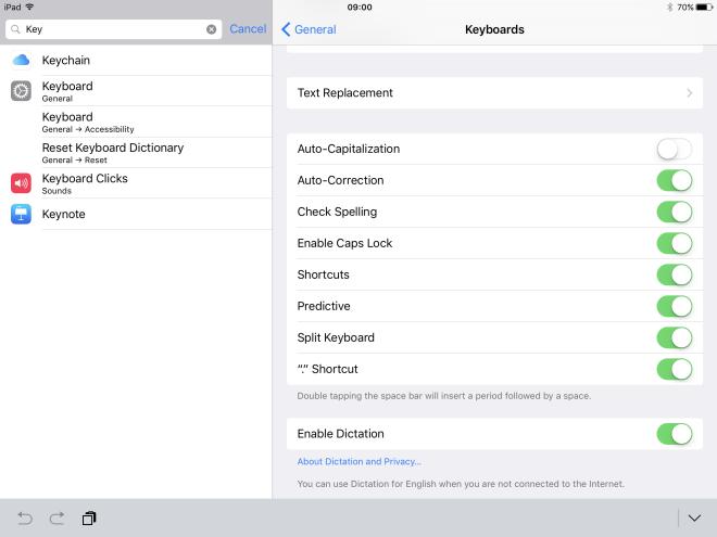 3 settings