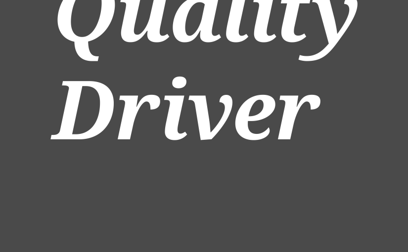 A Product Lead is a Quality Driver