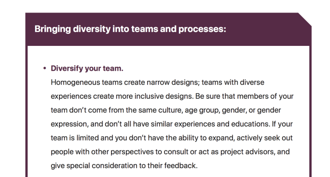 Bring diversity into teams