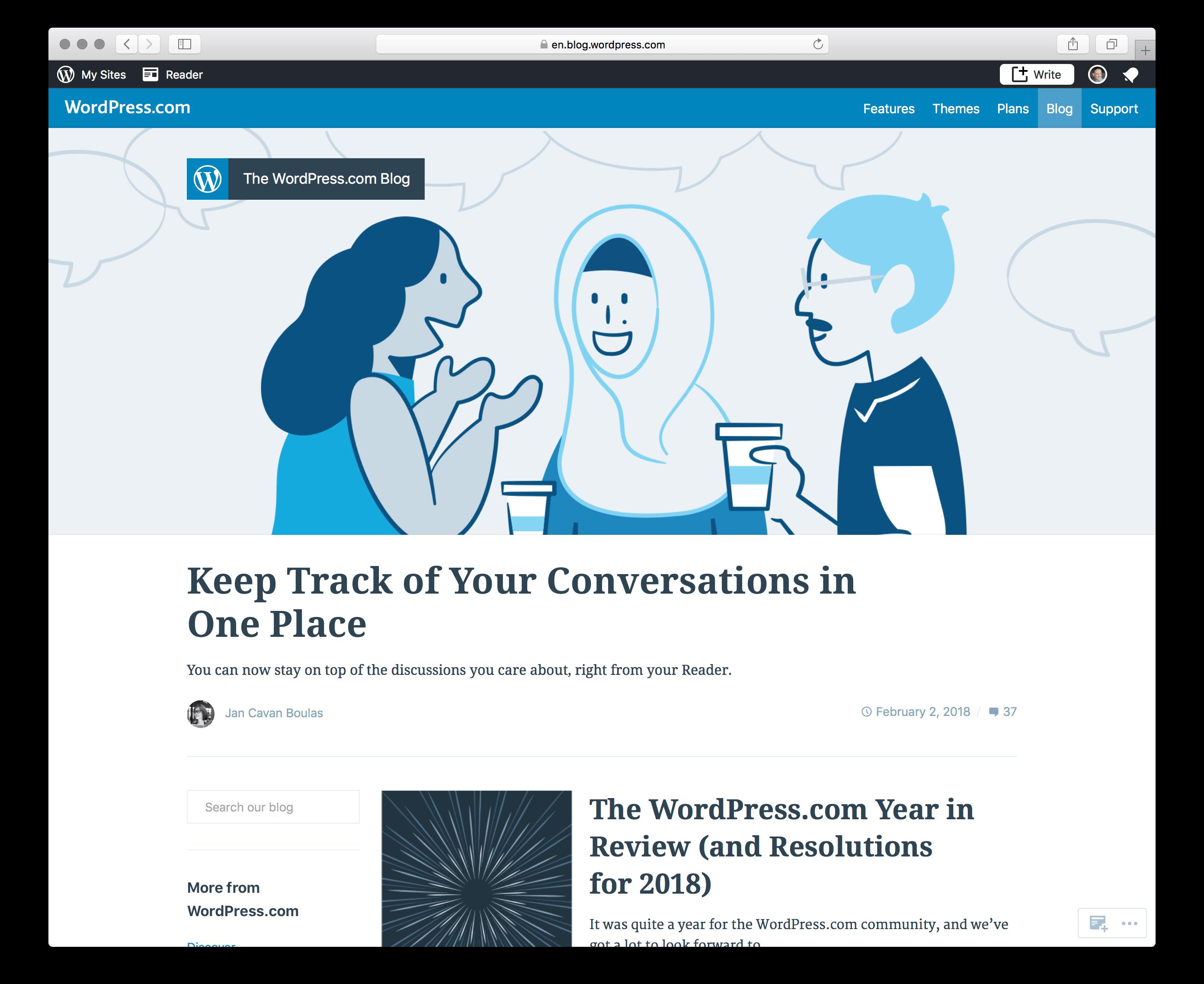 The WordPress.com blog in English.